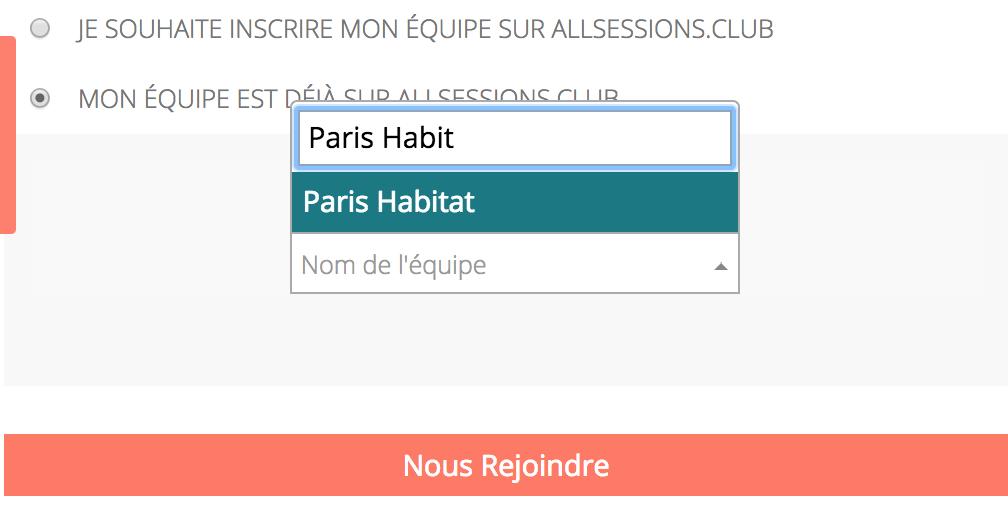 Inscription Paris Habitat AllSessions
